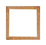 Golden frame for a picture on a isolated white background Stock Image