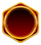 Golden Frame, Red Royalty Free Stock Photo