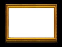 Golden frame with reflection Stock Images