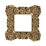 Golden frame roses Stock Photos