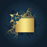 Golden frame for text. Golden frame with space for text Royalty Free Stock Images
