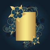 Golden frame for text Stock Photo