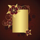 Golden frame for text. Golden frame with space for text Royalty Free Stock Photography