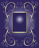 Golden frame for text Royalty Free Stock Images