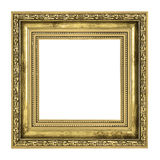 Golden frame with thick border Royalty Free Stock Photography