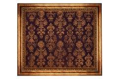 Golden frame with velvet pattern Stock Photo