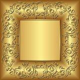 Frame. Golden frame with vintage ornament Royalty Free Stock Photo
