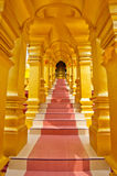 Golden frame of walk way Stock Photography