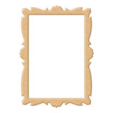 Golden frame on white background Royalty Free Stock Image