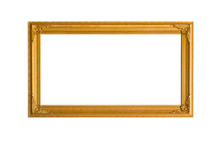 Golden frame. On white background stock photos