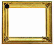 Golden frame on white background. With clipping path Stock Images