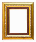Golden frame on white background. Golden frame on white background with clipping path Royalty Free Stock Images
