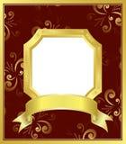 golden frame with white center - vector Stock Photo