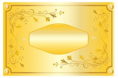 Free Golden Frame With Floral Ornament In 3d Rendering Royalty Free Stock Photo - 182839065