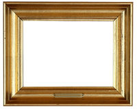 Golden frame. Golden wooden frame for painting Stock Images