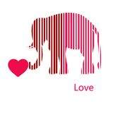 Golden Framed Elephant In Light Rays Royalty Free Stock Photography
