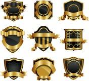 Golden framed labels Stock Image