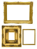Golden frames Stock Image