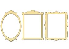 Golden Frames Stock Photography