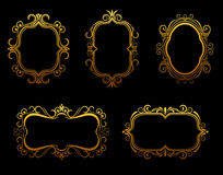 Golden frames Stock Photo