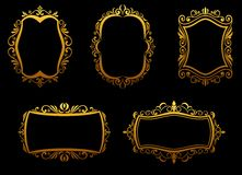 Golden frames Royalty Free Stock Photo