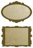 Golden frames. Two golden frames for advertising Royalty Free Stock Image