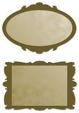 Golden frames. Two golden frames for advertising Stock Photography