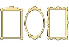 Golden frames Royalty Free Stock Image