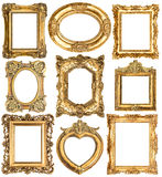 Golden frames. Baroque style antique objects royalty free stock image