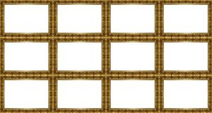 Golden frames pattern Stock Photos