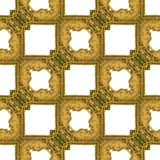 Golden Frames Seamless Stock Images