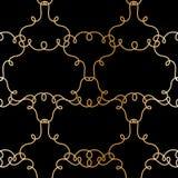 Golden frames seamless pattern. Stock Photos