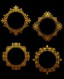 Golden frames set Royalty Free Stock Photo