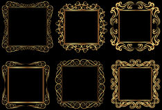 Golden frames Stock Images