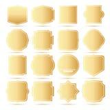 Golden Frames Set. Royalty Free Stock Photos