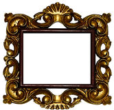 Golden framework. Picture of a Golden framework stock photography