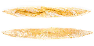 Golden French Crusty  Baguette of whole wheat bread  from two  s Royalty Free Stock Image