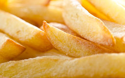 Golden french fries Stock Image