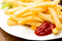 Golden French fries Royalty Free Stock Photos