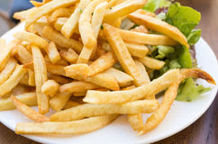 Golden French fries potatoes Royalty Free Stock Photography