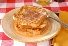 Golden french toast Royalty Free Stock Photo