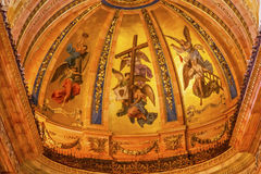 Golden Frescos Dome San Francisco el Grande Madrid Spain Stock Photo