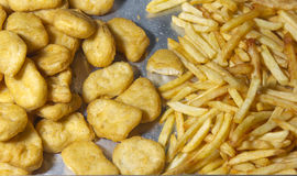 Golden Fried foods Royalty Free Stock Photography