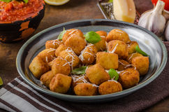 Golden fried mini croquette Stock Image