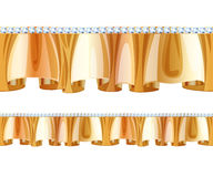 Golden frill ruffle with diamonds. Stock Photography