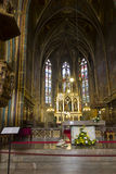 The golden front altar of the Church (Basilica) of St Peter and St Paul at Vysehrad Royalty Free Stock Photography