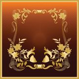 Golden_froral_frame Royalty Free Stock Photos