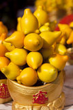 Golden fruits Royalty Free Stock Photo