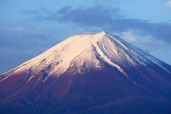 Fuji Mountain at lake Kawaguchi, Japan. Golden Fuji Mountain with snow cap at lake Kawaguchi, Japan. During sunrise stock images