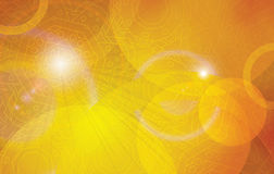 Golden futuristic vector background. Golden futuristic astral abstract vector background template. Orange yellow decoration horizontal layout Royalty Free Stock Image